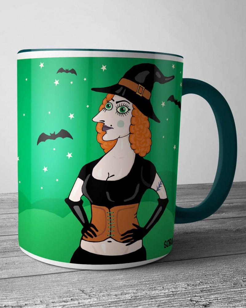 Керамическая кружка - Ведьма