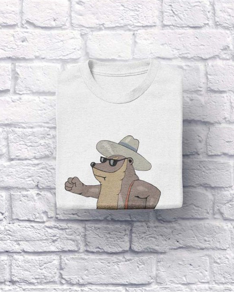 "Хлопковая футболка ""МИШКА ZZ TOP"" белая XL (S,L,ХХL)"