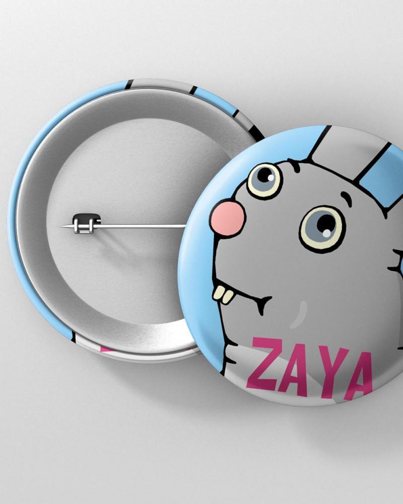 Значок с авторским рисунком - ZAYA SB4K Ø37 mm