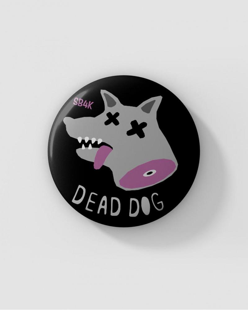 Значок с авторским рисунком - SB4K DEAD DOG Ø37 mm