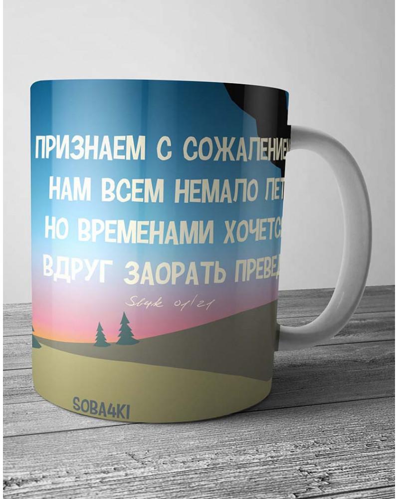 Керамическая кружка в подарочной коробке - ПРЕВЕДКРОСАВЧЕГ!