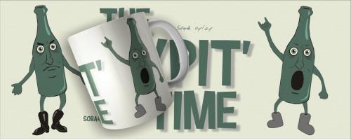 Керамическая кружка в подарочной коробке - THE TIME