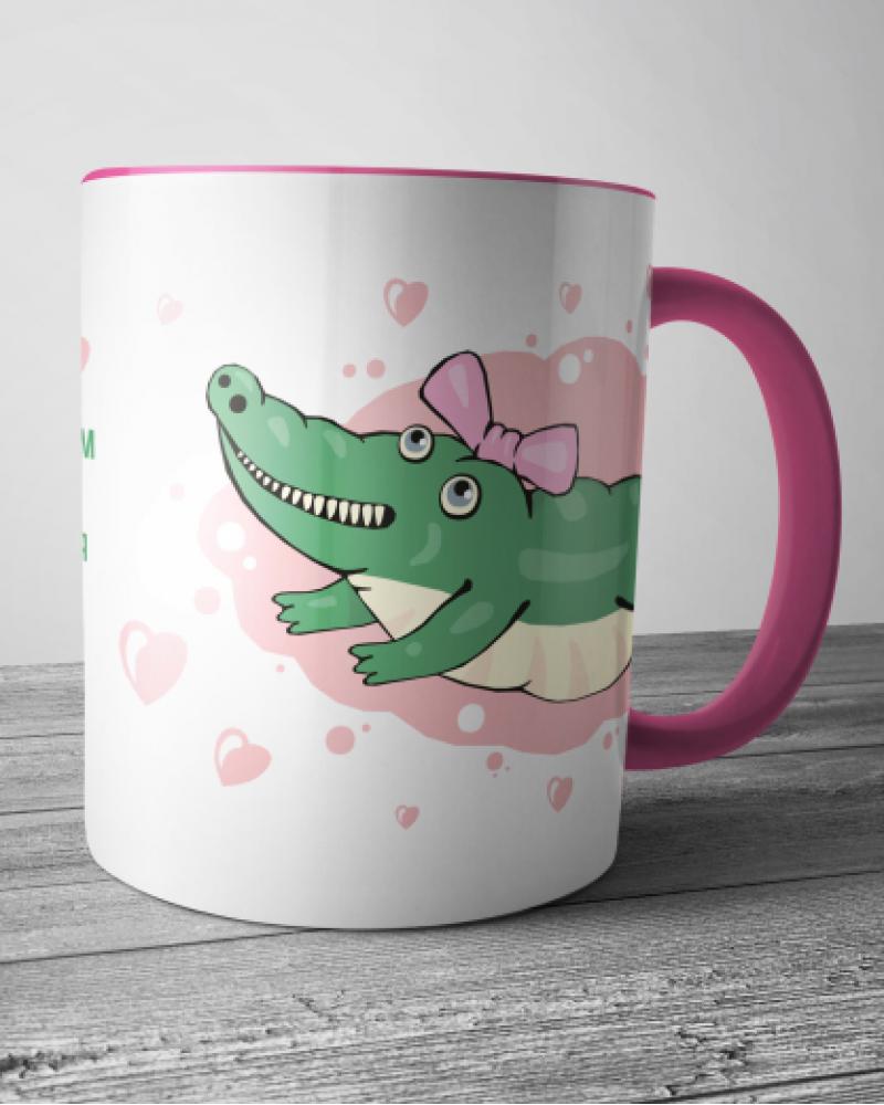 Керамическая кружка - Крокодильчик