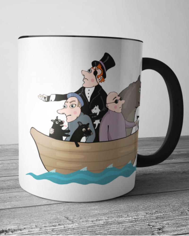 Керамическая кружка - Трое в лодке