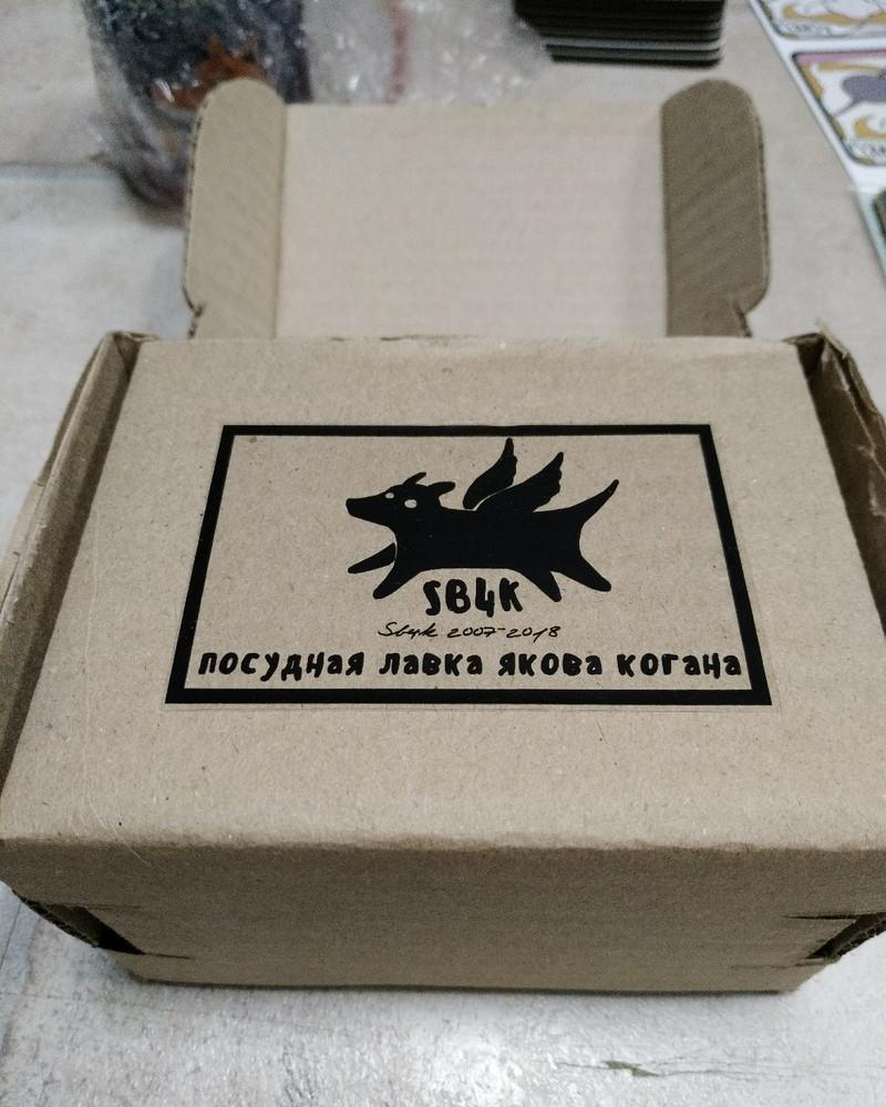 Керамическая кружка в подарочной коробке - Кот-атлет