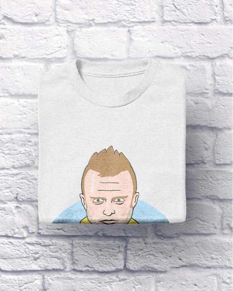 """Хлопковая футболка """"Ghe - kavo"""" белая XXL (S,M,L,ХL)"""