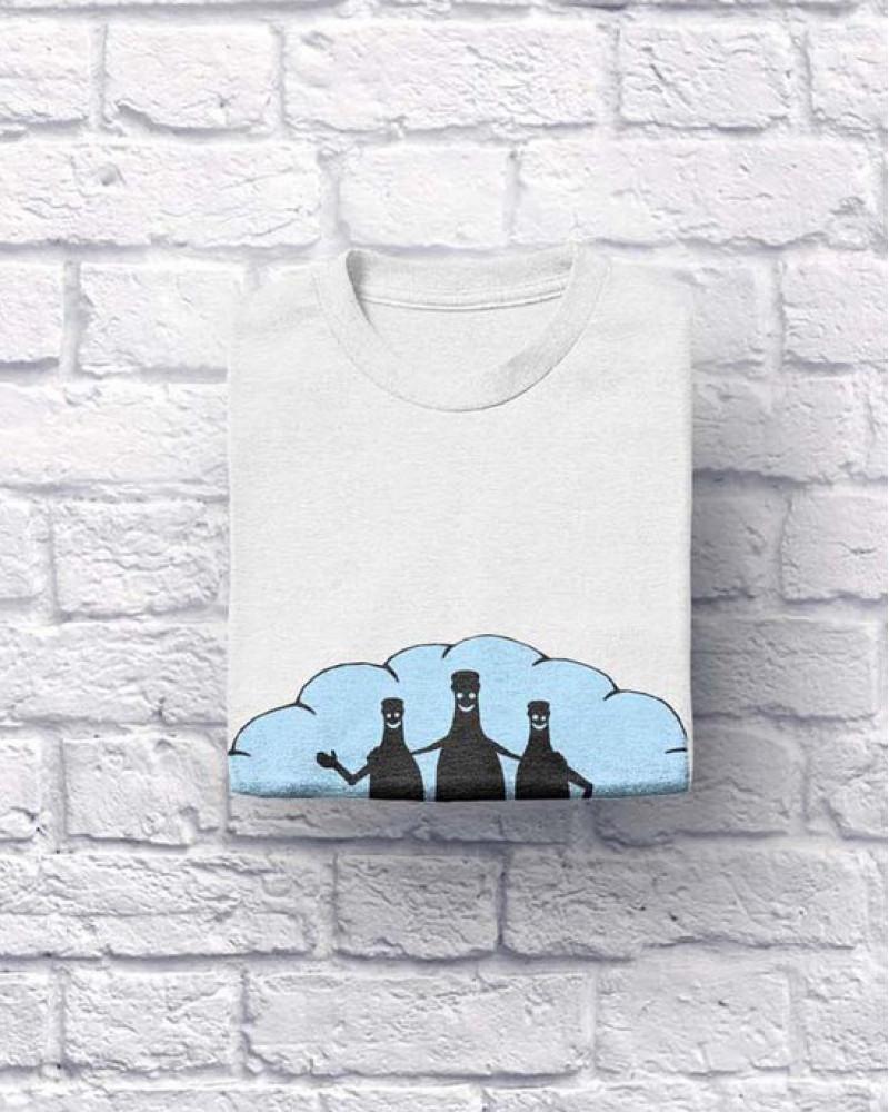 "Хлопковая футболка ""3 по 0,5"" белая XL (S,L,ХХL)"