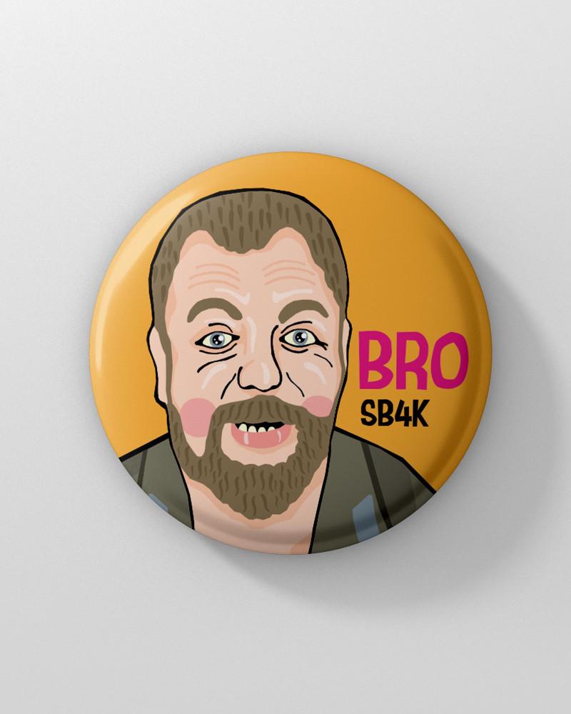 Значок с авторским рисунком - Bro. SB4K Ø37 mm